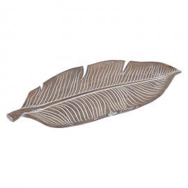 """Διακοσμητική Πιατέλα """"Banana Leaf"""" Ασημί Χρώμα 24.5*11*2.5 1-272-00-086 1-272-00-086"""
