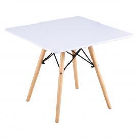 ART Wood Kid τραπέζι Άσπρο MDF 60x60x49cm Ε708Κ,1